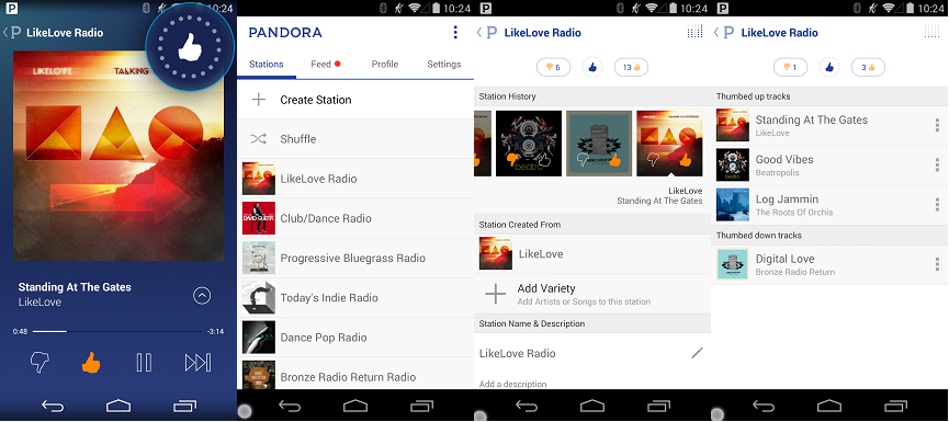 best free music app for android - pandora