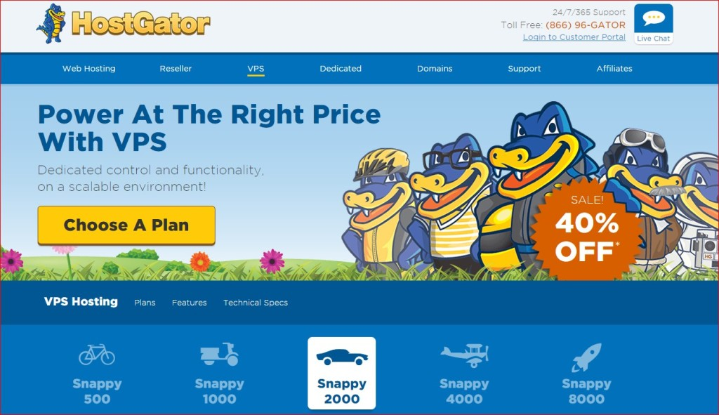 best vps host provider - hostgator