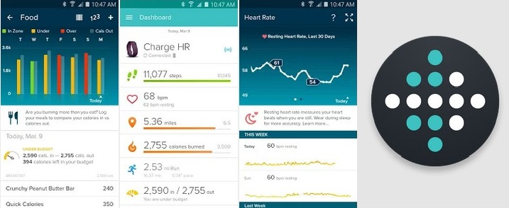 fitbit android pedometer apps