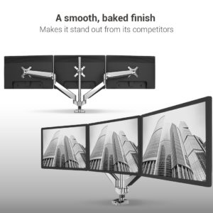Loctek Triple Monitor Mount - Best Triple Monitor Stand