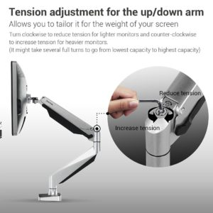 Loctek Triple Monitor Mounts – Tension Adjustment