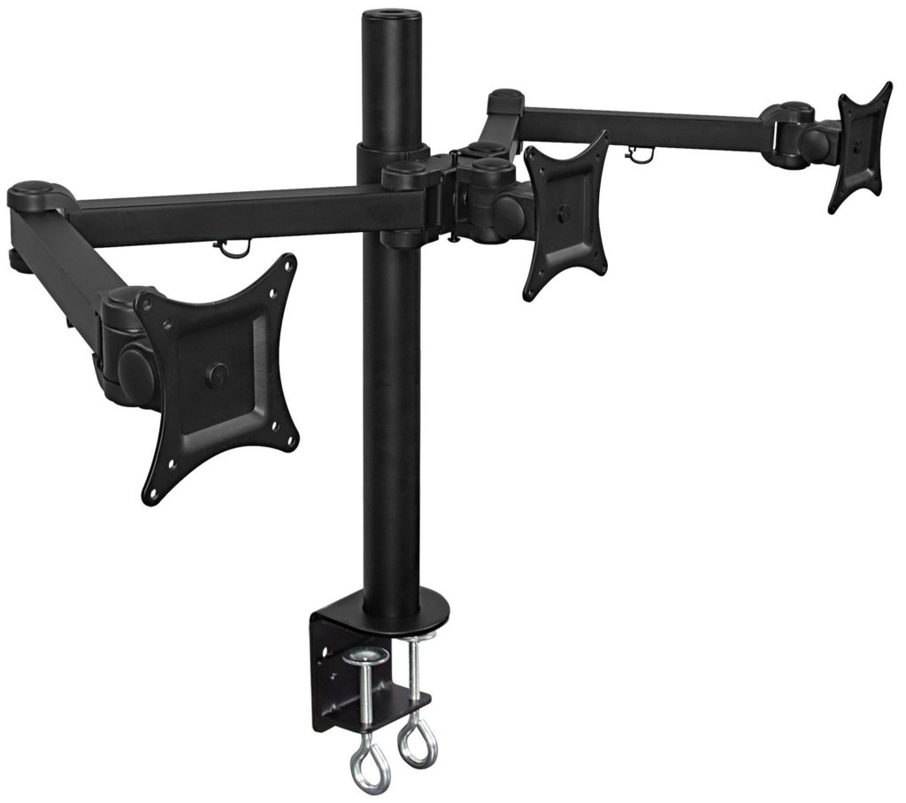 Mount-It! MI-753 Triple Monitor Desk Mount–Best 24 Inch Triple Monitor Stand