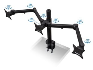 Mount-It! MI-753 Triple Monitor Desk Mount - 180 Degree Swivel